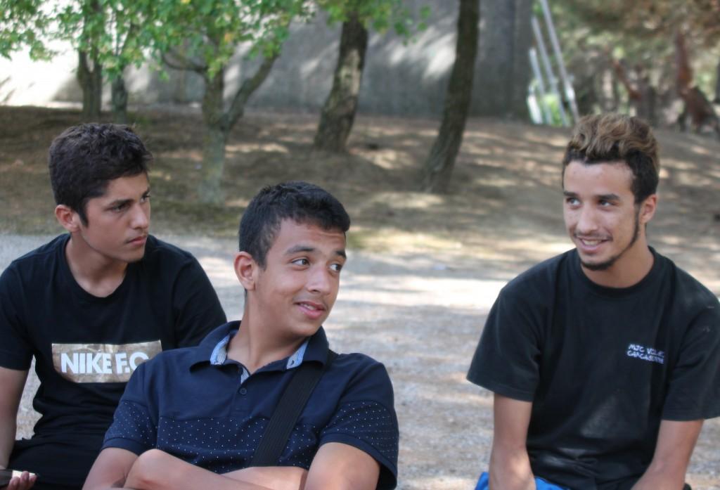 Sie haben das Wort in Sachen Religion: Mehdi, Bilal und Tarek (v.l.)