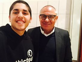 buntkicker-Interviewer Mehdi (links) und Felix Magath