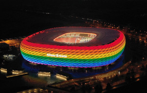 allianz arena regenbogenfarben